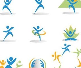 People 3D Icons vectors graphics