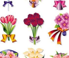 Flowers Bouquets vectors