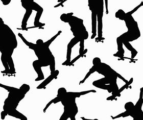 Skaters free vector