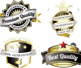 Royal Quality Vintage Labels art vector