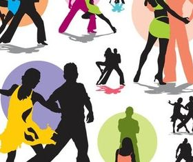 Latindancers free vector graphics
