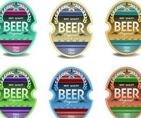 Drinks Labels and Stickers art vector