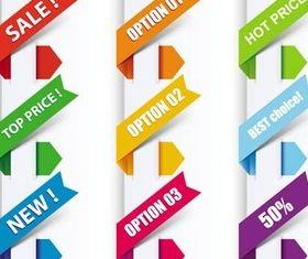 Creative Color Web Elements art set vector
