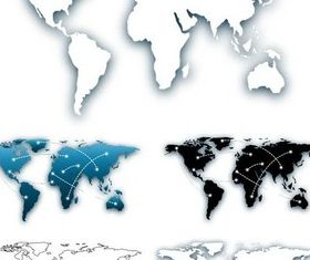 Stylish World Maps graphic vector