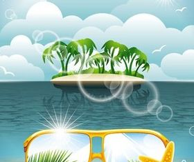 Summer Backgrounds set vector
