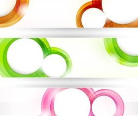 Creative Circle Banners vector