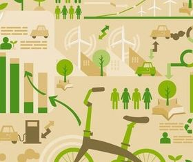 Ecology Infographics vector graphics