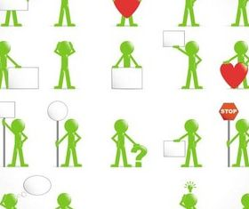 Color 3D People free vectors graphic