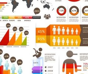 Stylish Infographics Elements art vector