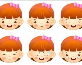 Children Color Faces art vector