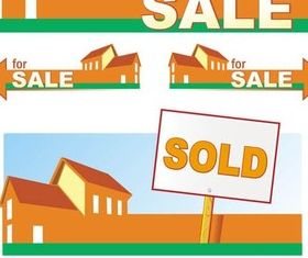 Home Sale Banners art vector
