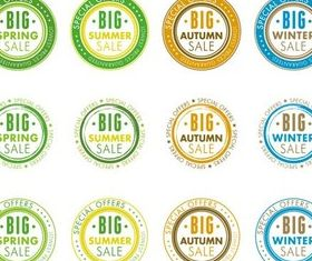 Shiny Seasons Sale Labels vector