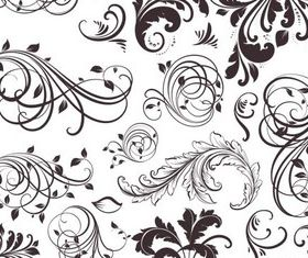 Swirl Floral graphic vector graphics
