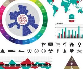 Colorful Infographics Elements art vector