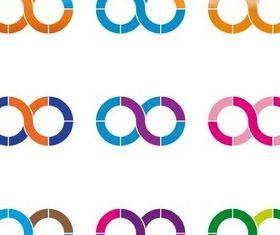 Bright Abstract Logotypes vector design