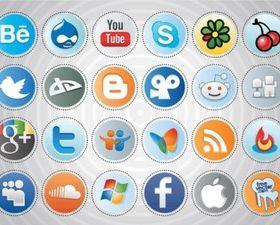 Social MediButtons Illustration vector
