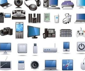 Digital technology products vector