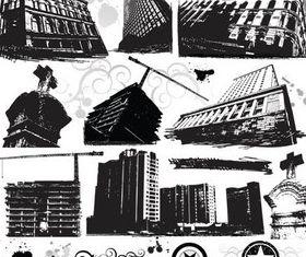 Grunge Building Elements art vector
