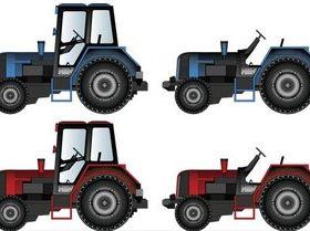 Different Tractors free vector