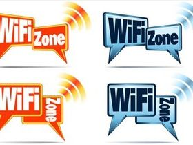 Wi-Fi Zone Labels vector