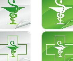 Hospital symbols free set vector