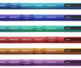 Color Web Bars vectors graphics