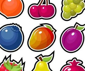 Summer Fruits graphic vector set