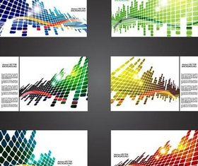 Abstract Cards art vectors graphics