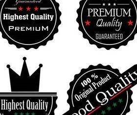 Dark Guarantee Labels art vector