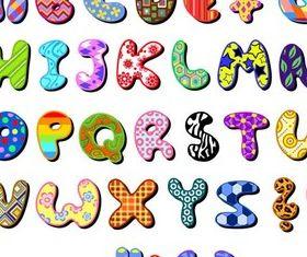 Creative Alphabets art vector graphics