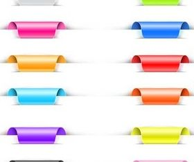 Ribbons and Tags vector