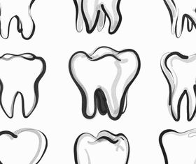 Logos with teeth graphic vector