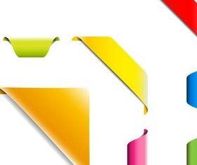 Shiny Colorful Tags art vectors