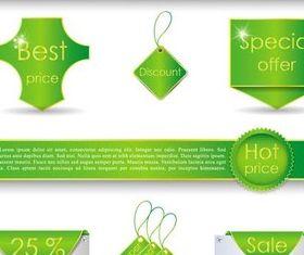 Green Web Sale Elements art vectors material