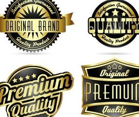 Golden Royal Labels graphic vector design