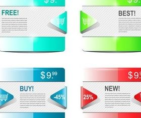 Web Sale Cards free vector