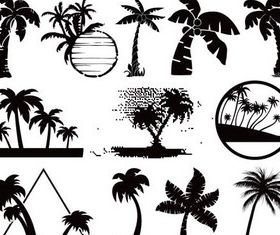 Beach Symbols vector graphics