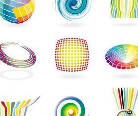 Abstract Logotypes vector