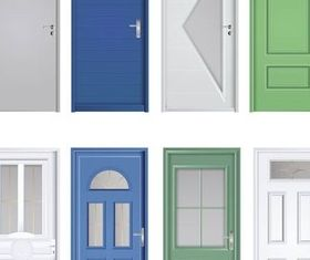Different Color Doors vector