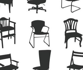 Different Chairs Illustration vector