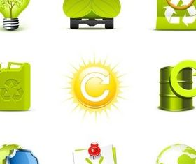 Ecology Icons free design vectors