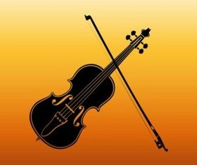 Violin Silhouette vectors graphics