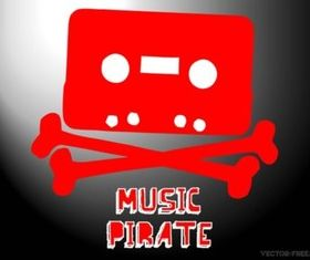 Music Piracy vector design