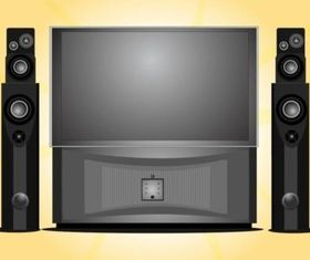 Home Entertainment System vector