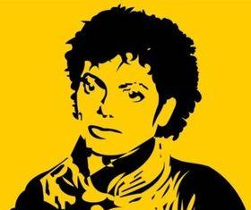 Michael Jackson Portrait vector graphics