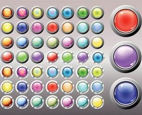 Shiny Buttons creative vector