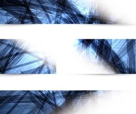 Abstract Blue Banners vectors