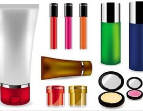 Womens Cosmetics creative vector