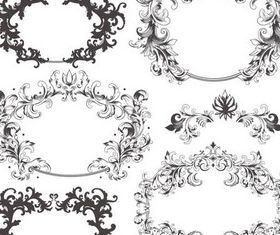 Swirl Ornament Frames Illustration vector