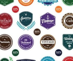 Different Shiny Labels vectors graphic
